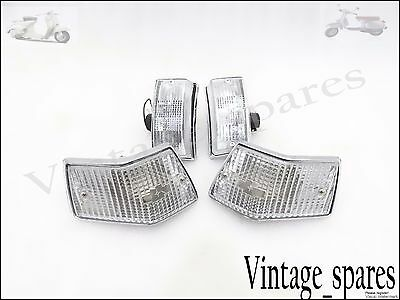 Brand New Vespa Px Lml Star Stella Front & Rear Indicator Set Clear Lens