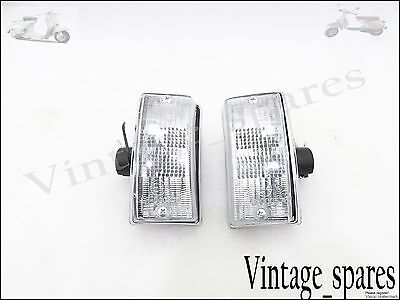 Brand New Vespa Px Lml Star Stella Front Indicator Set Clear Lens