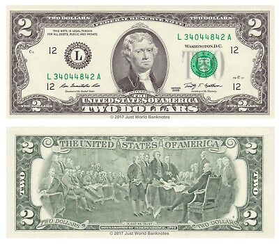United States USA 2 Dollars 2009 Series L California  P-New  UNC