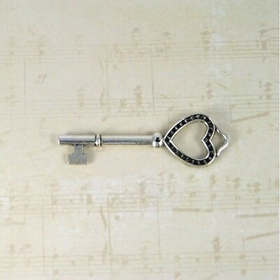 10 heart keys new party wedding Skeleton antique old look Event  findings charms