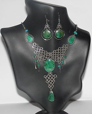 Lot 06 Set Semiprecious Stones Necklaces And Earrings  Handmade In Peru