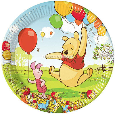 Pack of 10 Disney Winnie the Pooh Birthday Party Paper Plates 23cm with Piglet  sc 1 st  PicClick UK & PACK OF 10 Disney Winnie the Pooh Birthday Party Paper Plates 23cm ...