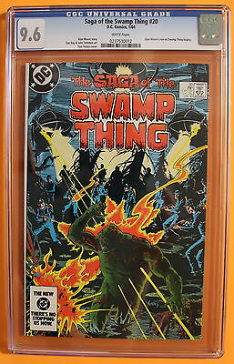 Saga of the SWAMP THING #20 Bissette 1st ALAN MOORE & Begins 1984 CGC NM+ 9.6