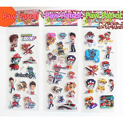 3 x PAW PATROL PUFFY Stickers Party Bag Fillers Birthday party Kids Favours Gift