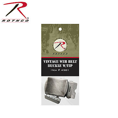 Rothco Vintage Web Belt Buckle & Tip Pack - 4301