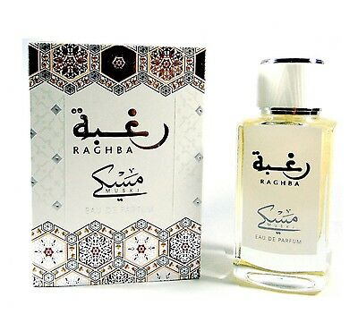 Raghba Muski Intense By Lattafa  Spray EDP Oudh Arabian Perfume 100 ml
