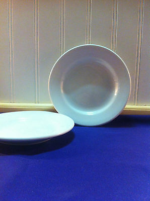 """Delco Atlantic China 6"""" White Rolled Edge Undecorated Bread & Butter Dish Lot 12"""