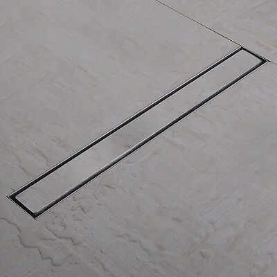 304 Stainless Steel Tile Insert Linear Shower Drains With Curved Flange 50-100cm