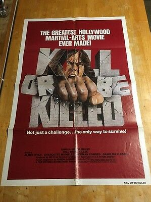 KILL OR BE KILLED movie poster original 1980 one sheet  ·
