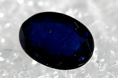Genuine Natural Sapphire Midnight Blue oval Shape Faceted SB-02