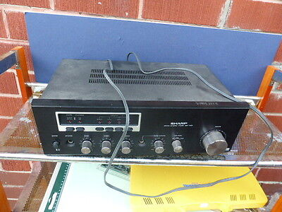 vintage Sharp SM-1122 Stereo Integrated amp  amplifier