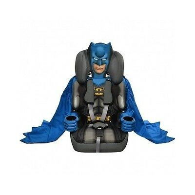 Batman Car Seat Kids High Back Booster Cushion Padded 5 Point Harness Travel NEW
