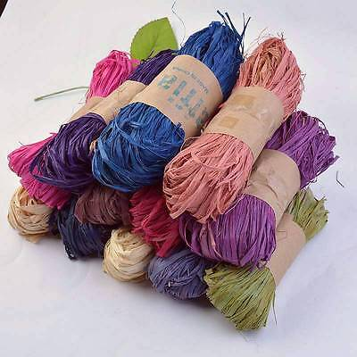 Natural Raffia Fibre Ribbon Gifts Scrapbooking Making DIY Decoration