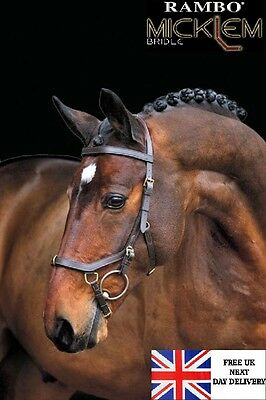 SALE Horseware Rambo Micklem Multi Bridle, Lunge Cavesson or Bitless Bridle