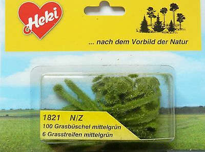 Grass Strips And Tufts ~ Scenery For Model Rail N / Z Scale Heki 1821, Brand New