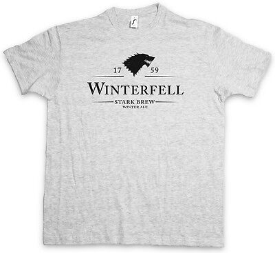 WINTERFELL 1759 STARK BREW T-SHIRT - Game of Ale Beer Fun Thrones House Stark