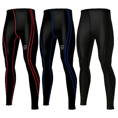 Mens Compression tights Base layer long pants legging running youga pant