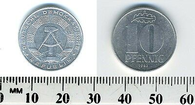 German-democratic Republic 1982 A - 10 Pfennig Aluminum Coin - Berlin mint