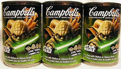 CAMBELL'S LIMITED EDITION STAR WARS SOUP - 3 Cans Making 60 oz Canadian Soup
