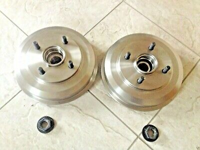 Ford Focus 98-05 Two Rear Brake Drums With Fitted Bearings+Lock Nuts  Brand New
