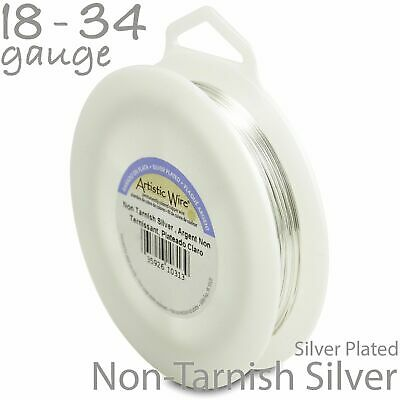 Silver Artistic Wire 1/4LB Spool - Tarnish Resistant Silver Plated Craft Wire