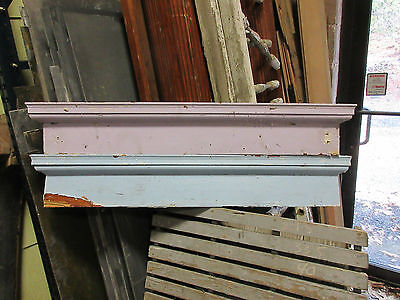 PAIR c1880 VICTORIAN HEART pine window DOOR header pediment crown MOLDING 45& 46