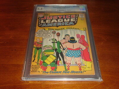 Justice League of America #7 (1961, DC) CGC 5.5 FN- FREE Ship!!