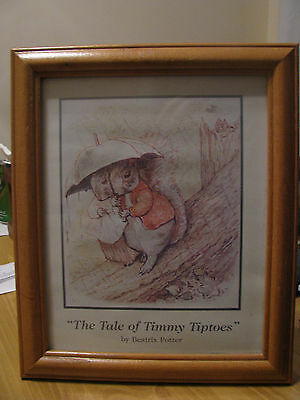 """""""The Tale Of Timmy Tiptoes"""" by Beatrix Potter Framed Print"""