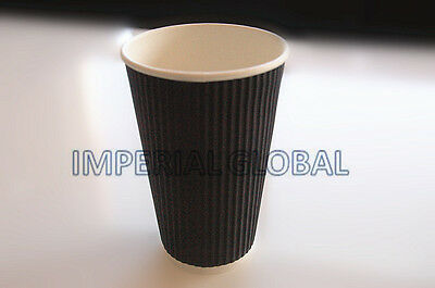 100pcs(50s) 16oz(473ml) disposable paper takeaway coffee cups and lids