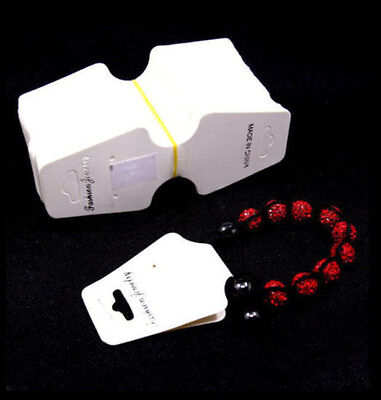 White Paper Bracelet Necklace Hanging Display Cards Jewelry Display Packaging