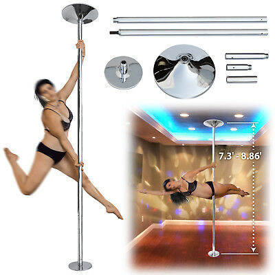 Professional Portable 45mm Dance Pole Fitness Exercise Stripper Adjustable Heig