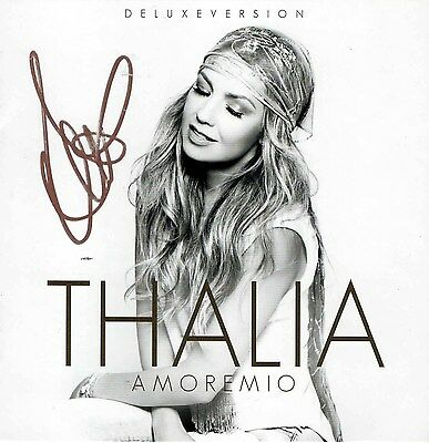 Thalia REAL hand SIGNED NEW Amoremio Deluxe Edition CD Autographed #A