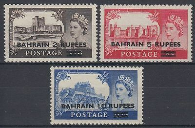 Bahrain 1955 ** Mi.96/98 SG 94/96 Type I Definitives Castles ovpt. on GB [b458]