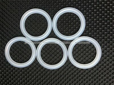 """5PCs 2"""" Sanitary Tri Clamp Silicon Gasket Fits 64mm OD Type Ferrule Flange S2"""