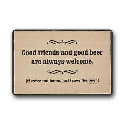 Funny Good Friends and Good Beer Are Always Welcome Non-Woven Fabric Doormat