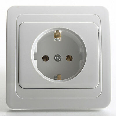 EU Standard AC Power 16A 250V Wall Charger Outlet Panel Power Socket Plate