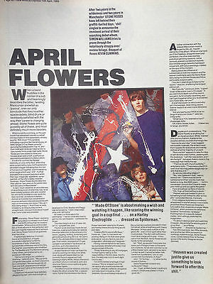 "STONE ROSES # 1989 INTERVIEW # ORIGINAL VINTAGE INTERVIEW # 16""x 11"""