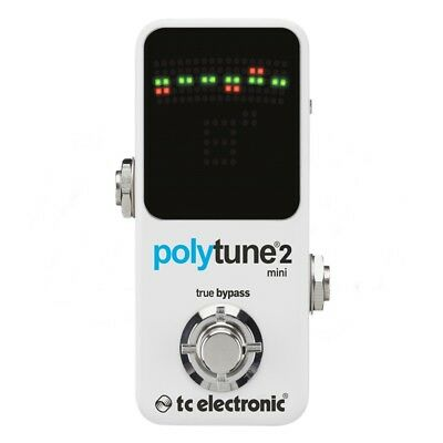 TC Electronic PolyTune 2 Mini Polyphonic Guitar Tuning Pedal Poly Tune 2