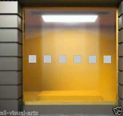 Frosted Squares x12 Acid Etched Effect Glass for Shop Shower Home Window Sticker