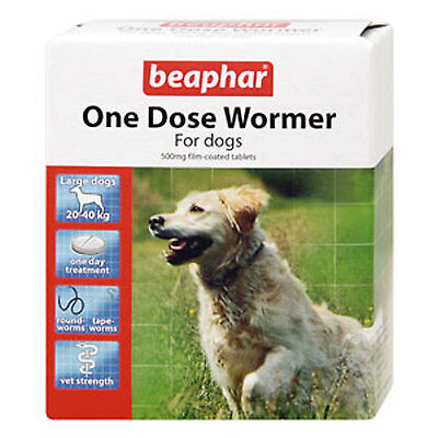 Beaphar One Dose Wormer Large Dog Pack of 3