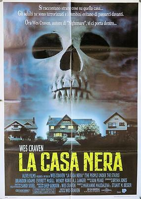 656 PEOPLE UNDER THE STAIRS Italian 1p poster '92 Wes Craven, art of huge skull