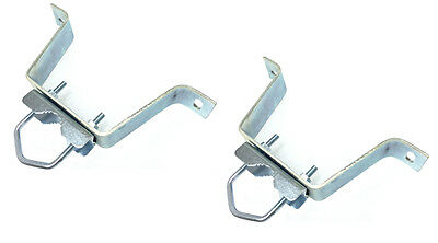 """4"""" Stand Off Wall Mount for up to 2"""" Mast - W Style Antenna Bracket HEAVY DUTY"""