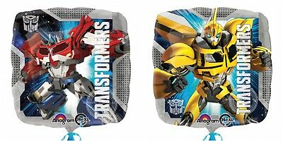 """TRANSFORMERS Optimus Prime Bumble Bee 2 Sided 18""""  Foil HELIUM BALLOON Party"""