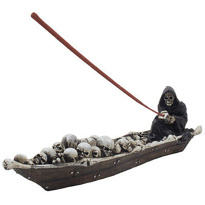 Grim Reaper Incense Burner for Halloween Decorations As Scary Gothic Decor Gifts
