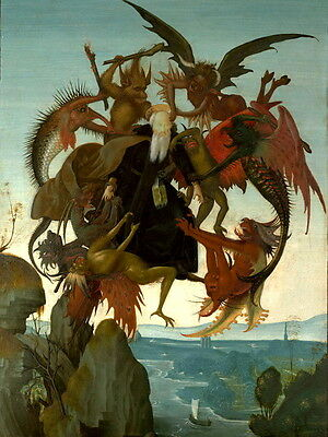 Torment of Saint Anthony Michelangelo 1488 Wall Print POSTER