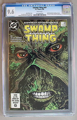 SWAMP THING 49 ALAN MOORE Demon Zatanna 1st JUSTICE LEAGUE DARK 1986 CGC NM+ 9.6