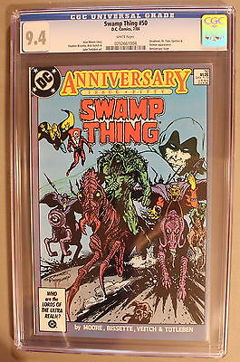 SWAMP THING 50 Moore DEATH Sargon 2nd JUSTICE LEAGUE DARK 1986 Movie CGC NM 9.4