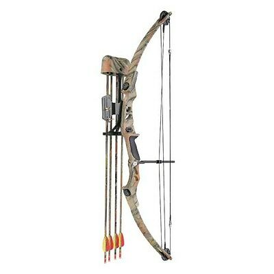 Lynx Camo Archery Compound Bow Set Kit 55lbs Pack Pin Sight & Rest