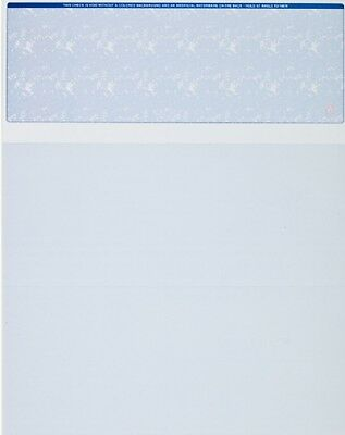 Blank Check Paper Stock - Computer Check On Top BLUE Count 50