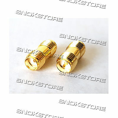 Adattatore Adapter Connettore Rp-Sma Female To Sma Female Straight Jack Coaxial
